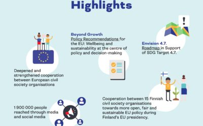 Finland's third EU Presidency – What did Finnish NGOs achieve?