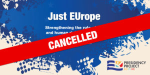 """Cancellation of """"Just EUrope"""" conference"""