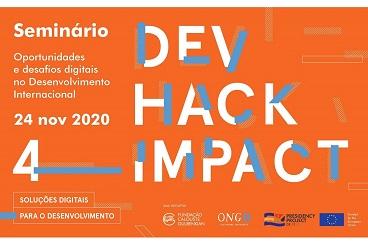 "Invitation to the international online seminar ""Digital opportunities and challenges in International Development"" on 24 November 2020. Copyright: Plataforma Portuguesa das ONGD"