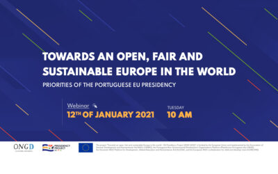 Towards an open, fair and sustainable Europe in the world – Priorities of the Portuguese EU presidency