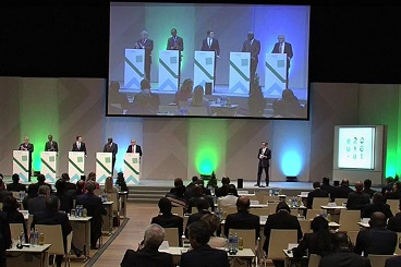 Podium at the High-Level Forum Africa-Europe Vienna 2018