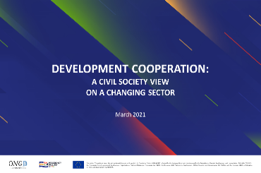 Development Cooperation: A Civil Society view on a changing sector