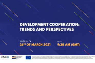 """""""Development Cooperation: Trends and Perspectives"""" Webinar"""