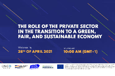 """The role of the private sector in the transition to a green, fair, and sustainable economy"" Webinar"